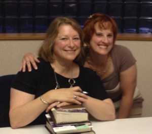 Deb Harkness and me, August 2014