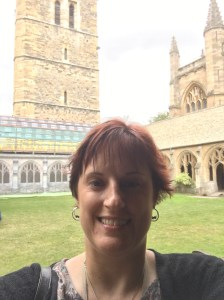 Me inside the cloisters of New College. You can see behind me that parts of it are undergoing repair