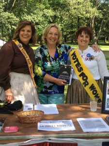 Article author Rebecca Now (center) with me and a friend at the re-enactment of the election of 1872.