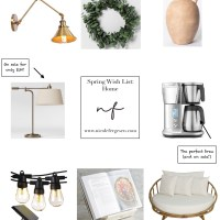 Spring Wish List - Home Edition