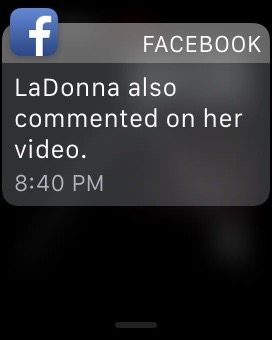 "Facebook: ""LaDonna also commented on her video."""