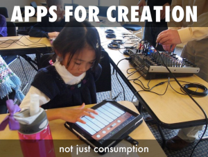 Apps are for creation, not just consumption