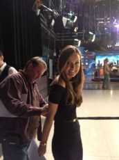 Getting mic'ed for Good Day LA