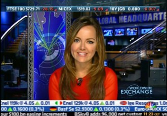 "Anchoring CNBC's ""Worldwide Exchange"""