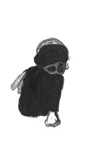 Dessin de Nicole Panneton - Métamorphose - Graphite et feutre - 2013