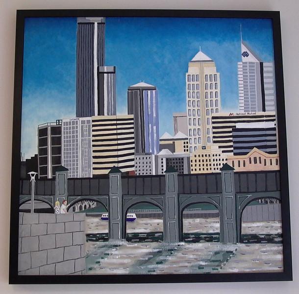 Melbourne, cityscape, oil on canvas