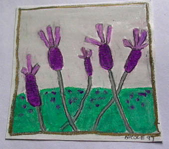 lavender Oil pastel on paper