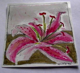 Lily Oil pastel on paper