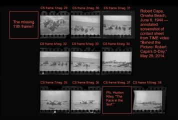 Only 10 pictures that he took on that morning survive and only nine in negative form.