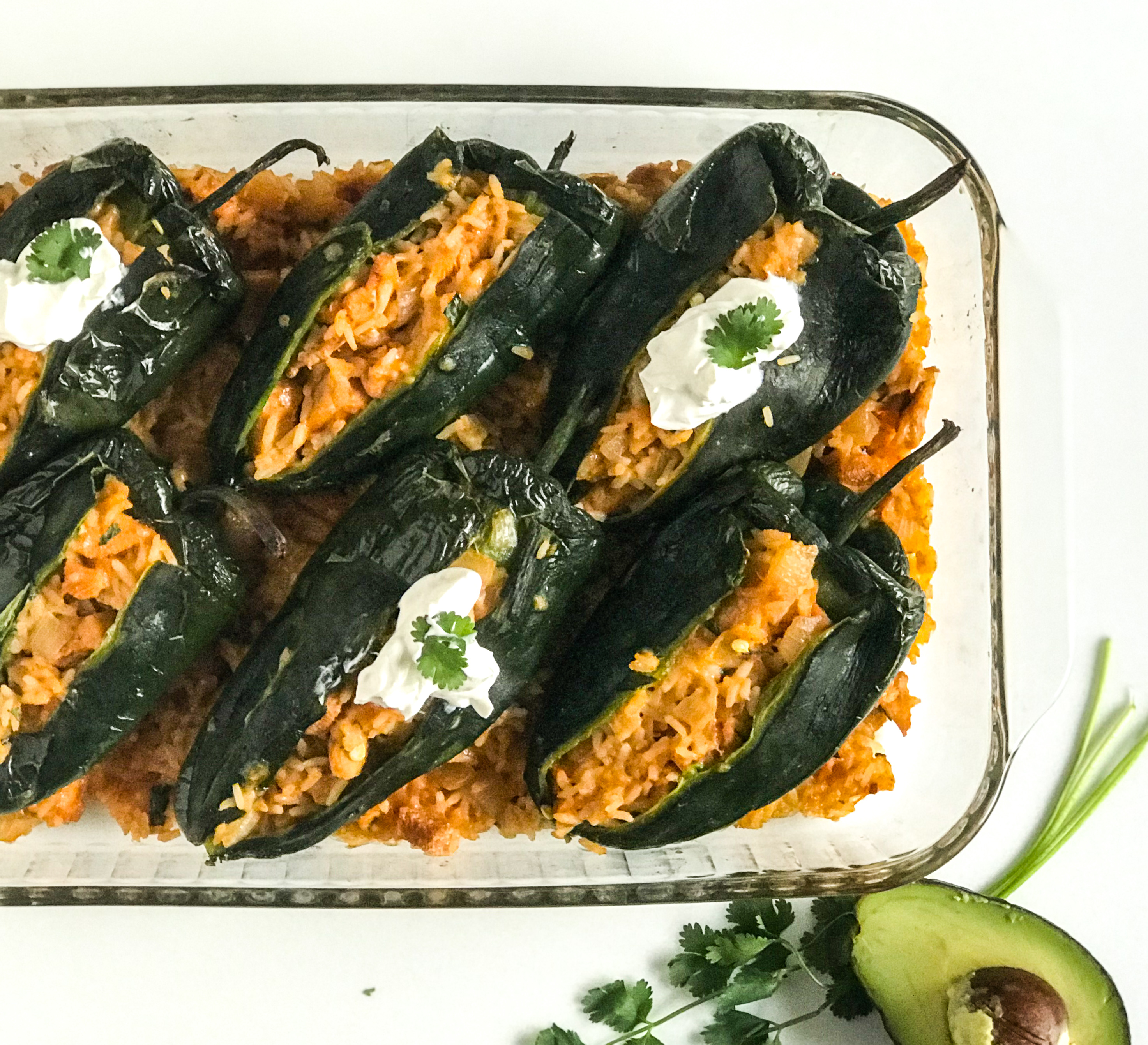 Brad's Spicy Stuffed Poblano Peppers