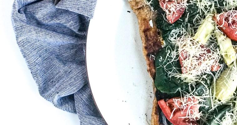 Spinach & Artichoke Grilled Pizza
