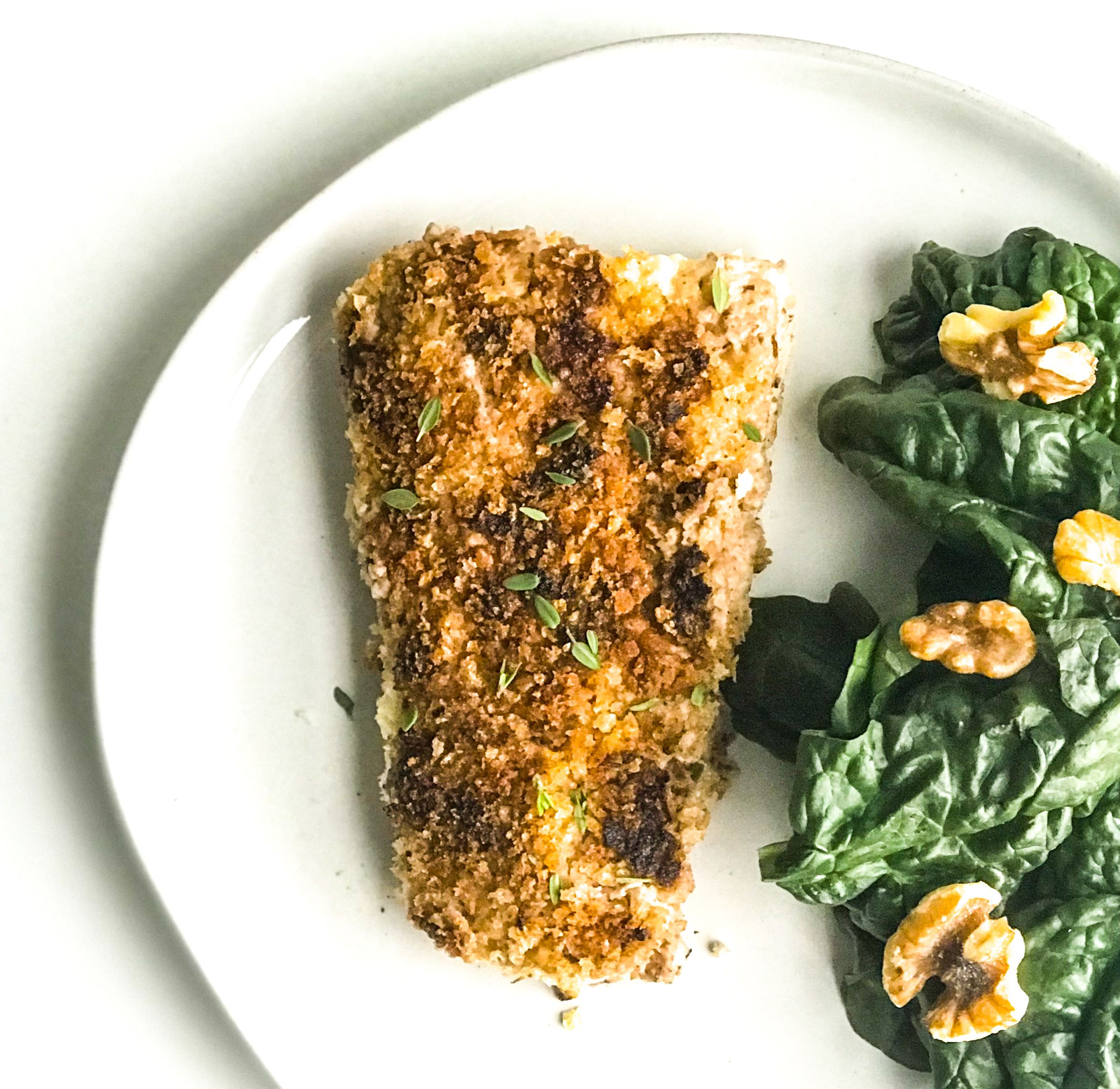 Pan-Seared Walnut Crusted Halibut