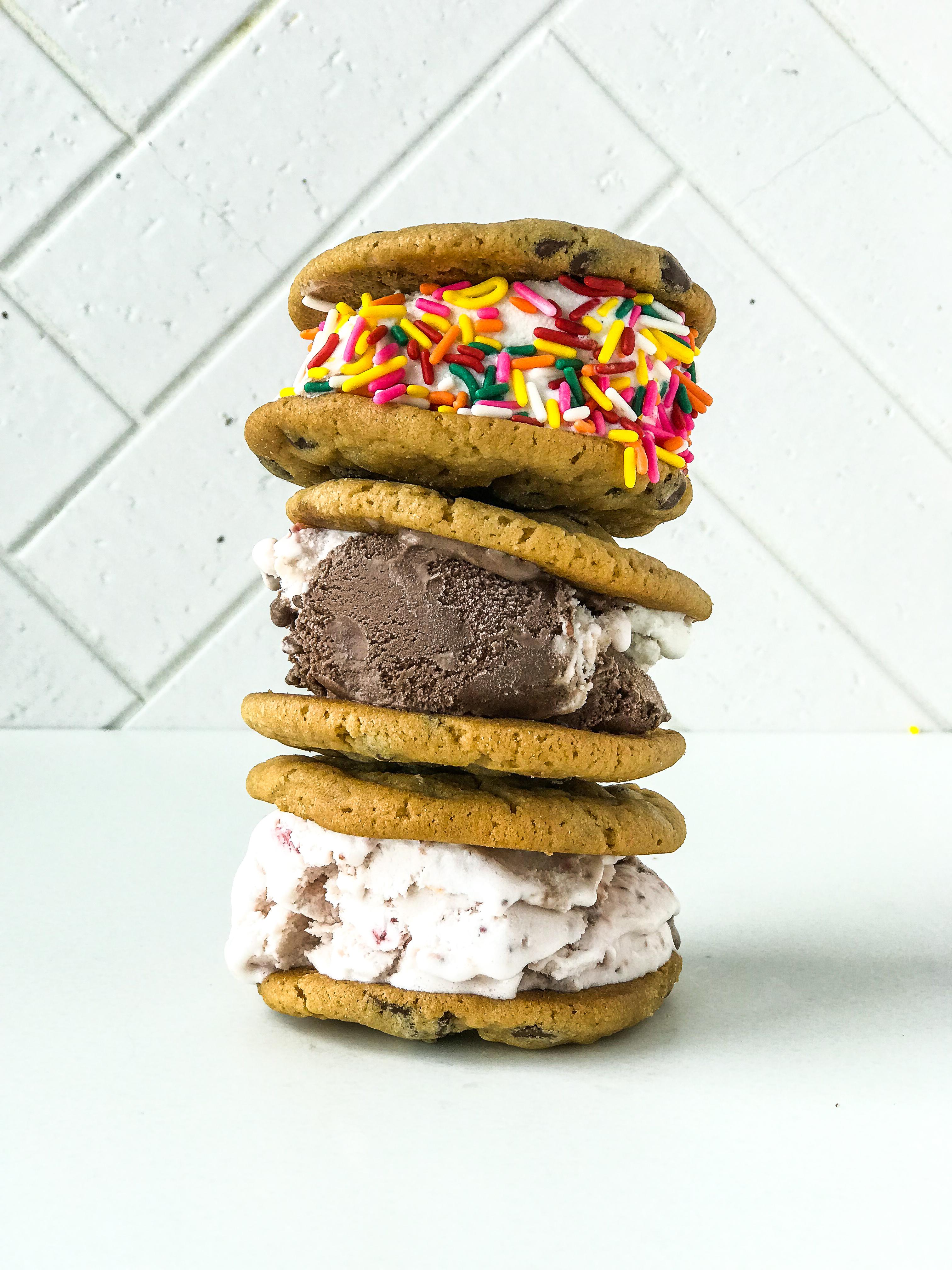 Easy Ice Cream Cookie Sandwiches