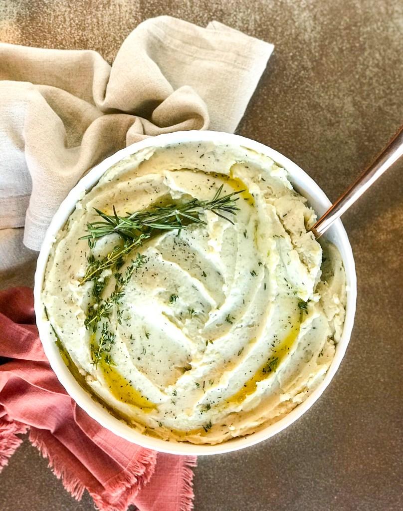 Vegan Creamy Herb Mashed Potatoes
