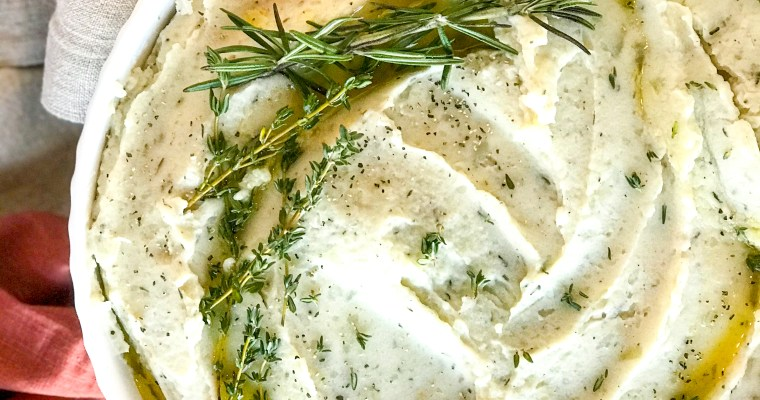 Vegan Creamy Herb Mashed Potatoes