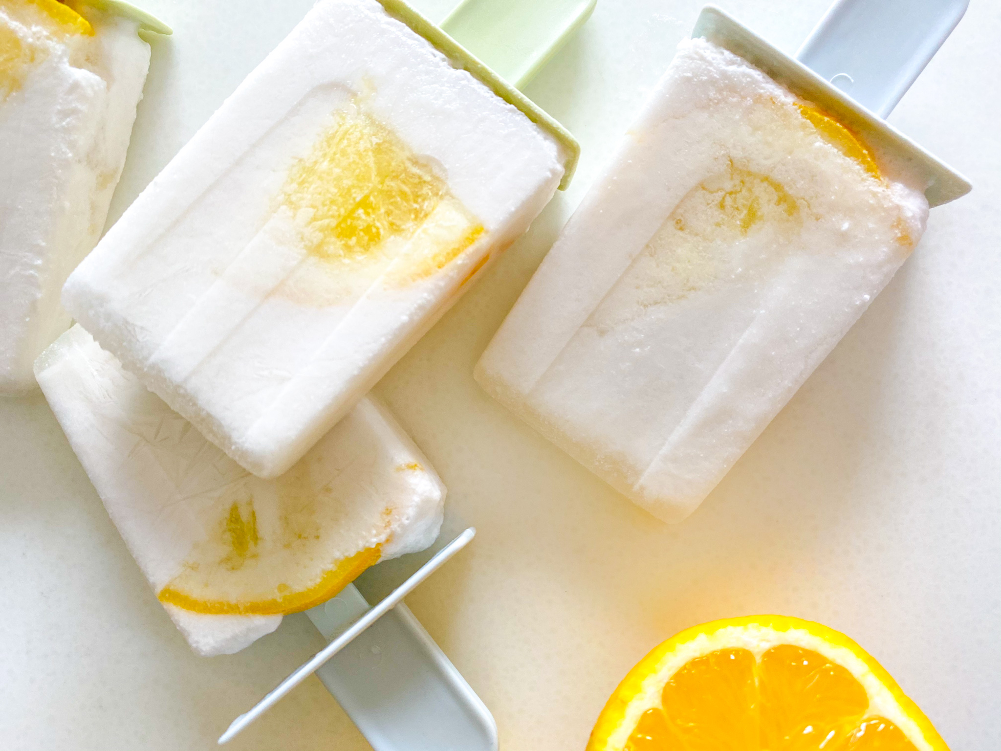 Cheerful Creamy Coconut Lemon Popsicles