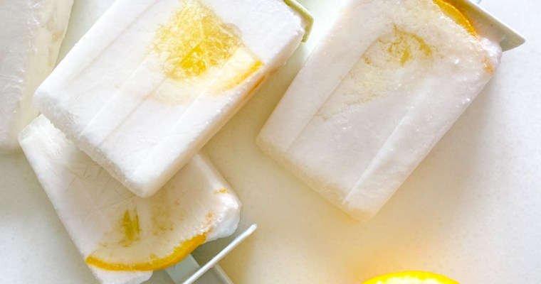Cheerful Creamy Coconut Lemon Popsicles
