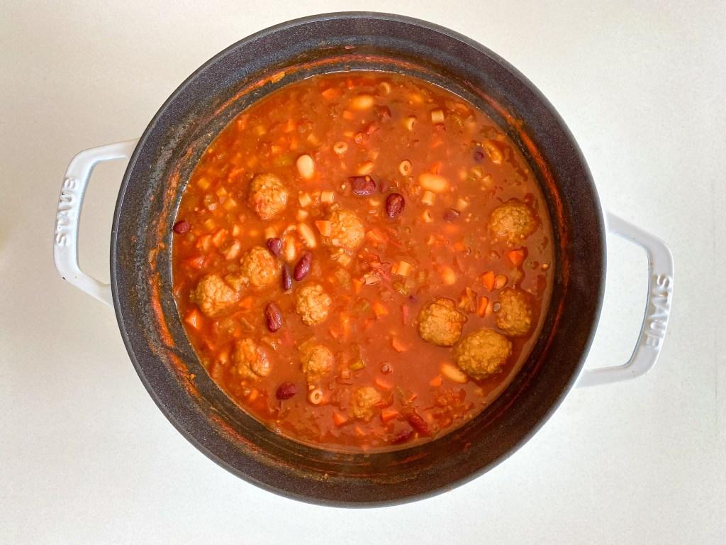 Meatball Pasta e Fagioli