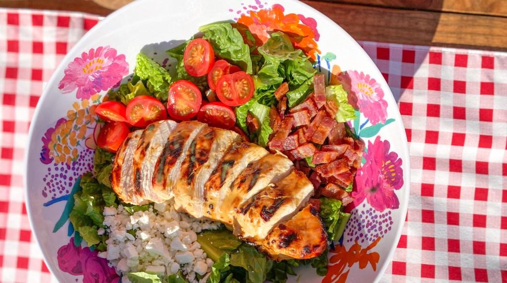 Honey Mustard Grilled Chicken BLT Salad