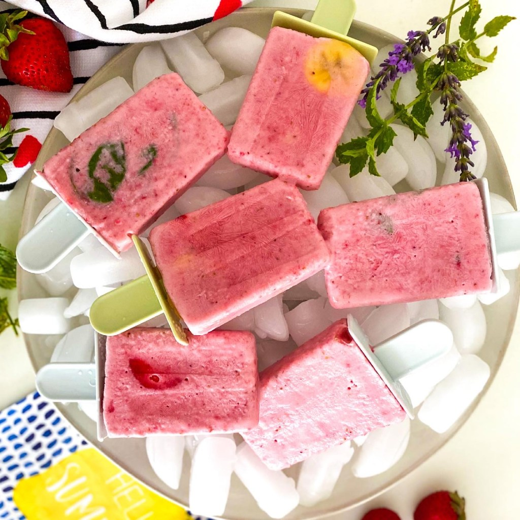 The Best Ever Strawberry Creme Popsicles