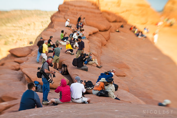 Lensbaby at Delicate Arch