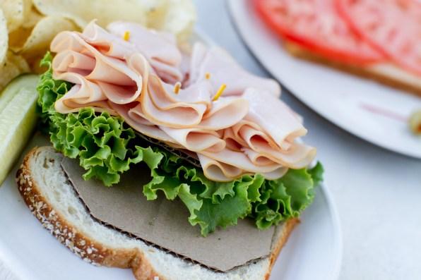 Sandwich Food Styling Setup