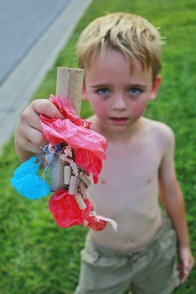 Little Boy with a Parachute Firework