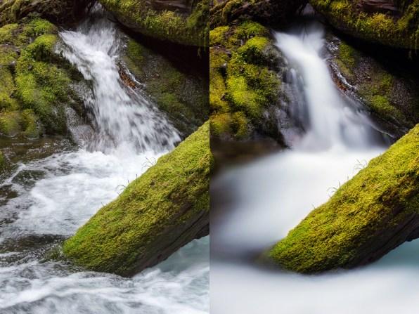 (Left) 1/45 sec; (Right) 133 sec — © Nicole S. Young (nicolesy.com)