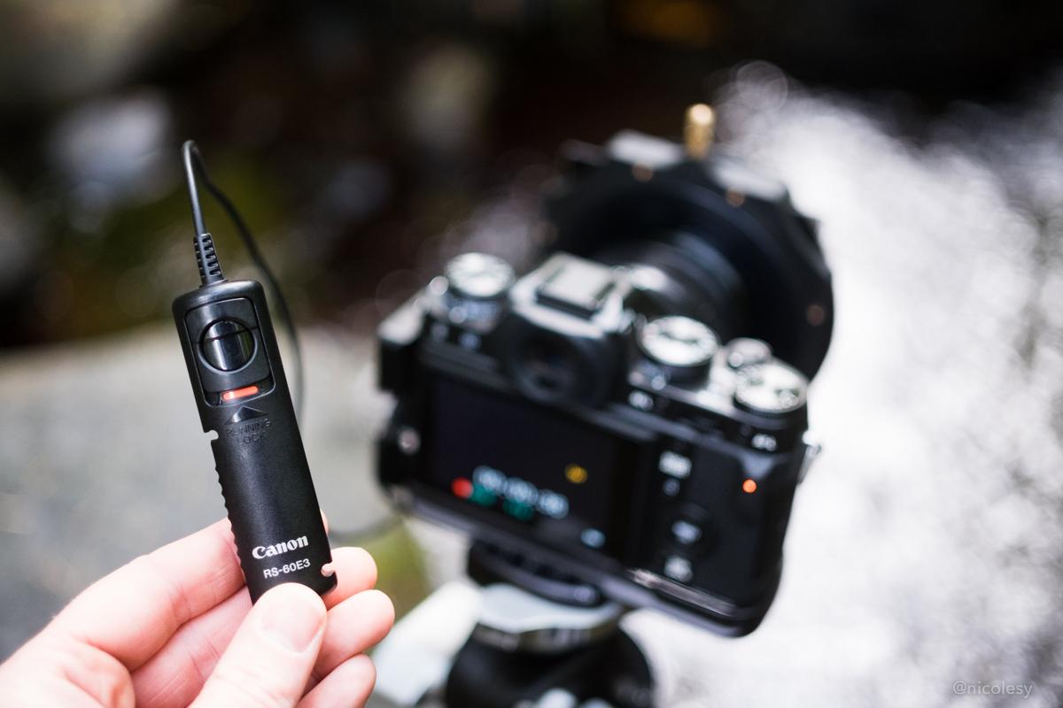 Canon remote release, used with Fujifilm X-T1