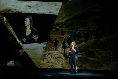Lynsey Addario speaking at Adobe MAX 2016