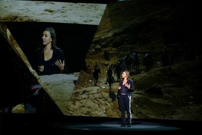 Lynsey Addario speaking at Adobe MAX 2016