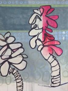 'Bandaged Moments' ( acrylics on paper, 170 x 120 cm )