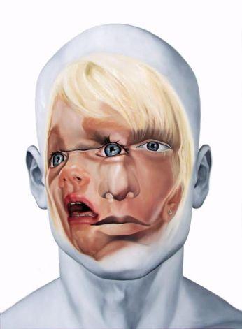 Face FS113 Still Child, 200x145 cm, oil on canvass, 2012.