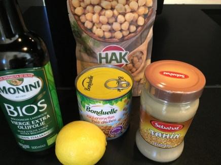 ingrediënten basisrecept hummus