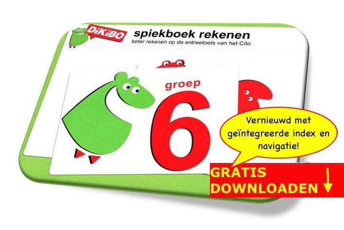 DiKiBO Spiekboekje rekenen groep 6 op gratis uitlegkaarten