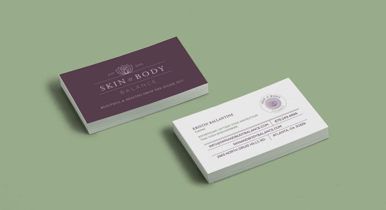 Skin and Body Balance Business Card Design | Nicole Victory Design