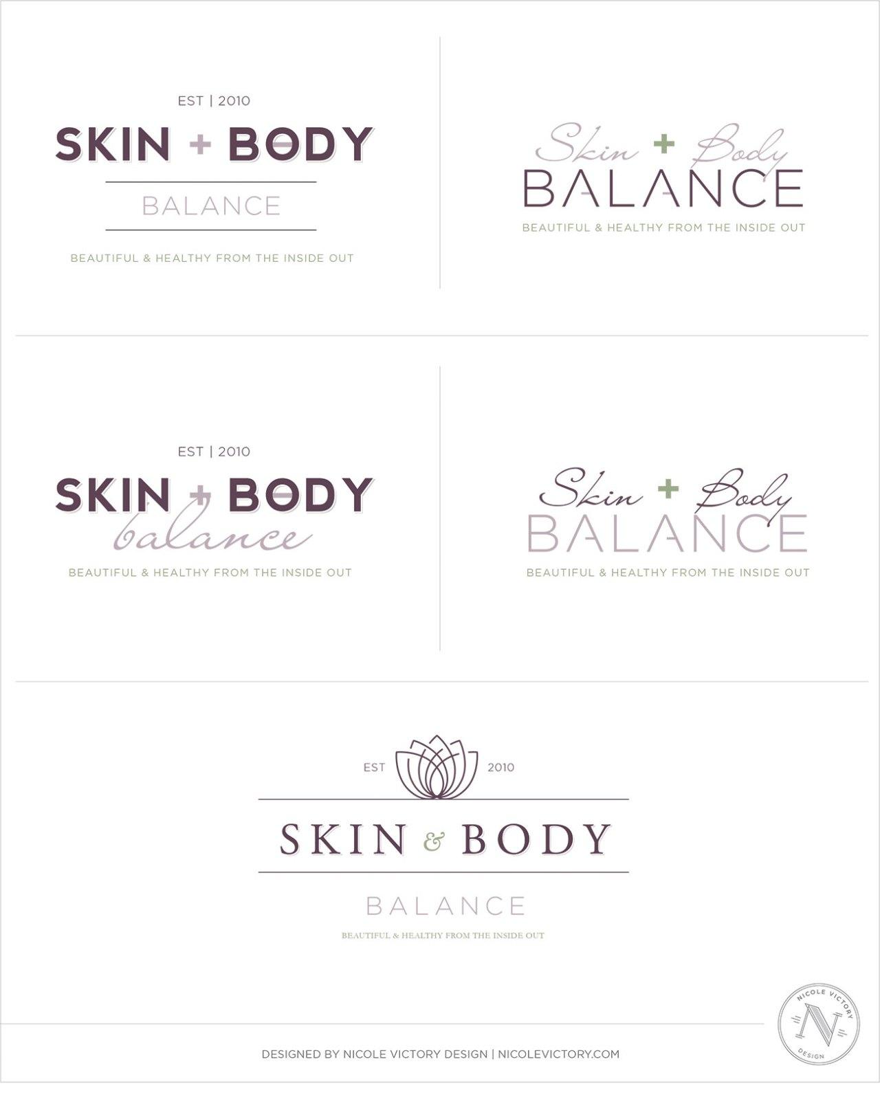 Skin And Body Balance Logo Concepts | Nicole Victory Design