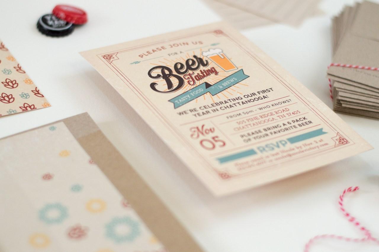 Beer Tasting Invitations   Nicole Victory Design