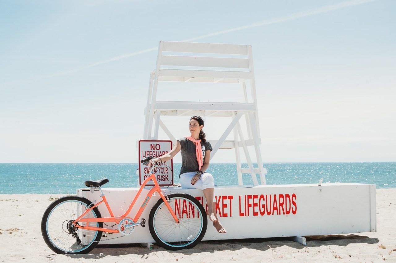 Biking to Siasconset Beach with Schwinn | Places to bike on Nantucket | Nicole Victory Design