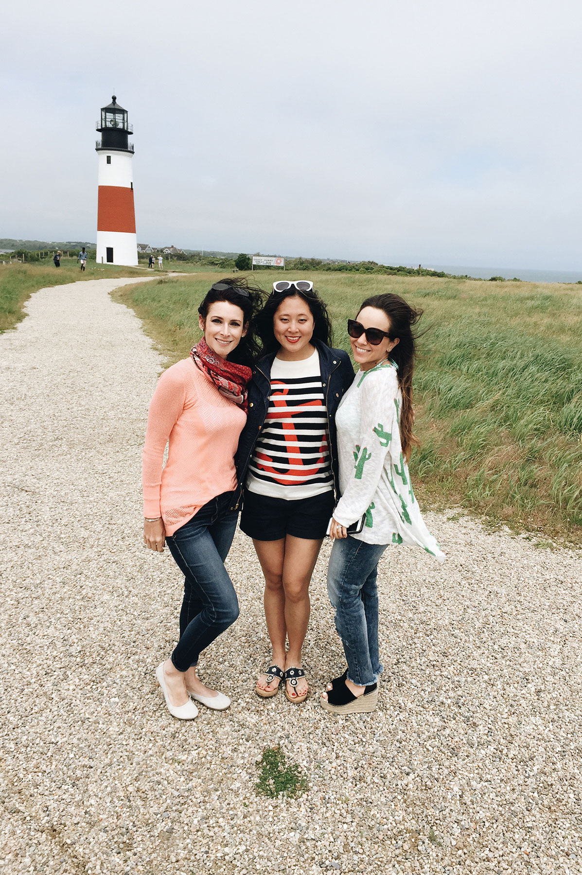 Sankaty Head Lighthouse in Nantucket with The Schwinn Ambassadors | Nicole Victory Design