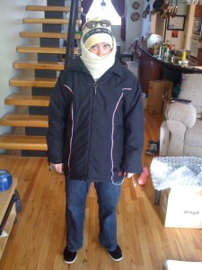 Me, ready for the snow!