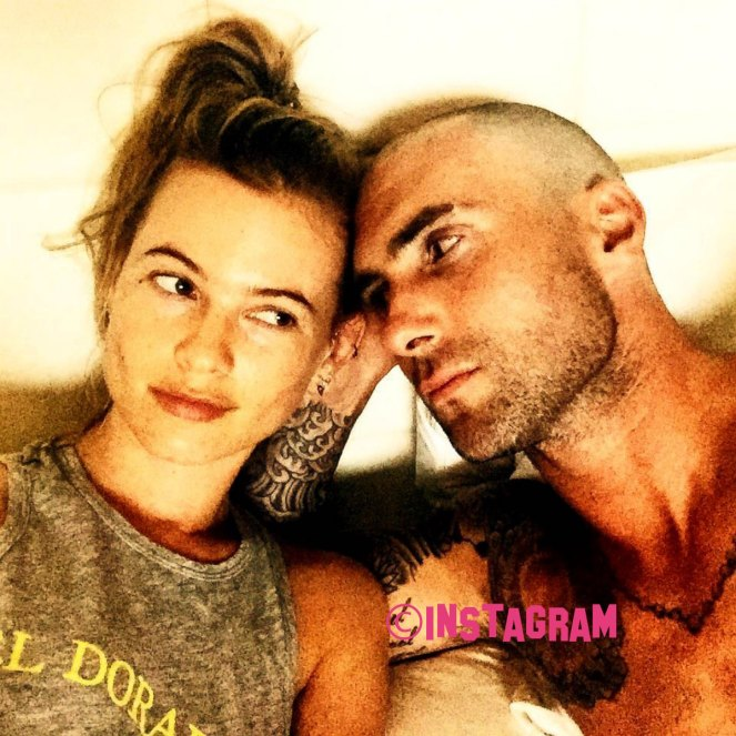 Adam Levine And Behati Prinsloo Share First Snap Of Baby Dusty Rose!