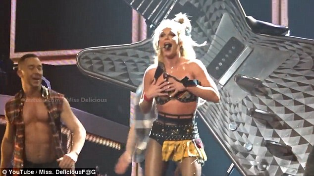 Britney Spears Nearly Flashes Boobs After Outfit Breaks Mid Performance