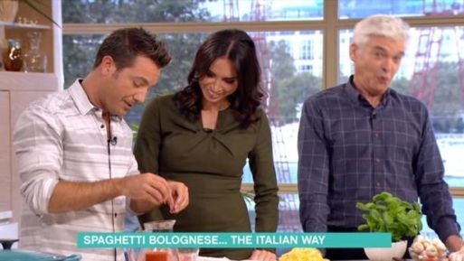 "Christine Bleakley Flirts With Gino D'Acampo On This Morning Leaving Phillip Schofield Feeling ""Awkward"""