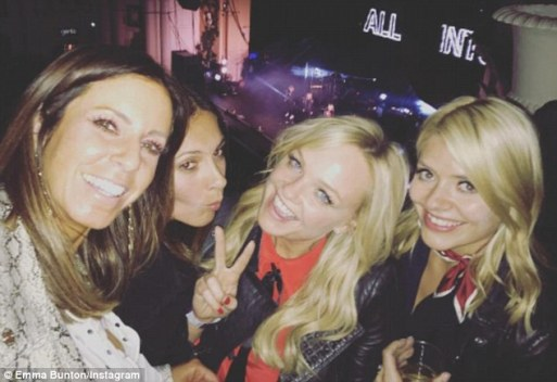 Emma Bunton And Holly Willoughby Go And See All Saints Perform In London