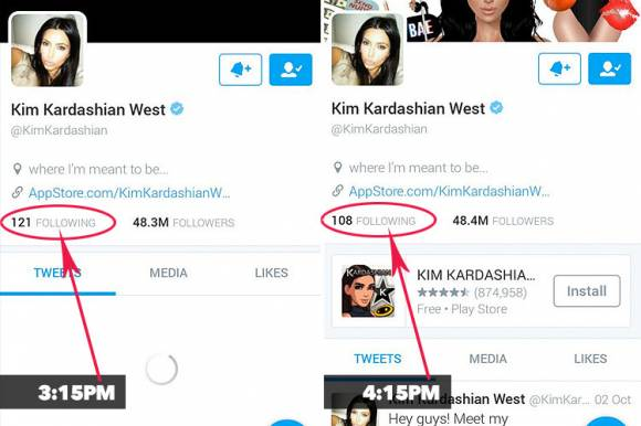Kim Kardashian Unfollows Fans On Twitter See The Proof HERE!!