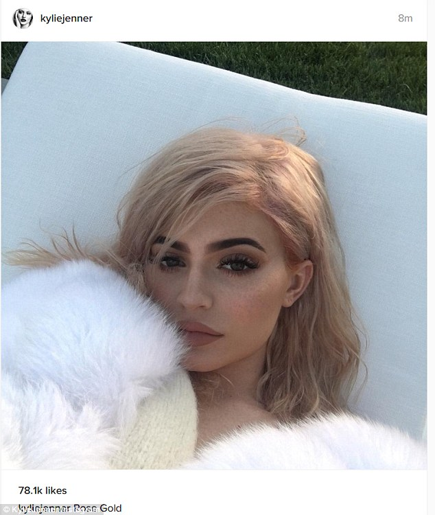 Kylie Jenner Shows Off Her New Rose Gold Hair On Instagram