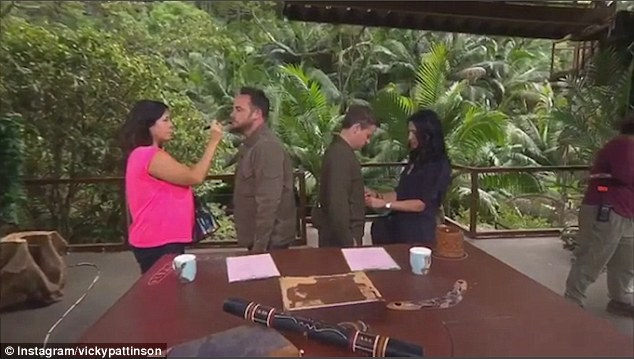 Ant And Dec Take Part In The Manikin Challenge On The I'm A Celebrity Set