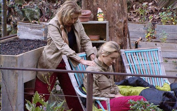 Carol Vorderman Gives Ola Jordan A Massage Causing Her To Make Sex Noises In The I'm A Celebrity Jungle