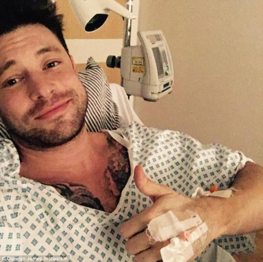 Duncan James Rushed To Hospital With Unknown Illness After Surgery On His Spine